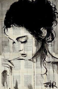 "Saatchi Art Artist Loui Jover; Drawing, ""lenore"" #art"