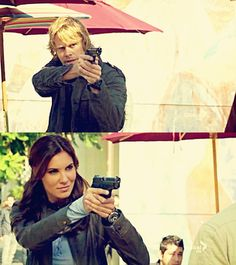 Oh, buddy. That badge better be real or my partner's gonna kick you in the FBI balls. Serie Ncis, Ncis Gibbs Rules, Kensi Blye, Best Tv Couples, Fbi Special Agent, Eric Christian Olsen, Ncis New, Daniela Ruah, Cop Show