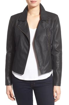 cupcakes and cashmere 'Sid' Faux Leather Moto Jacket (Nordstrom Exclusive) available at #Nordstrom