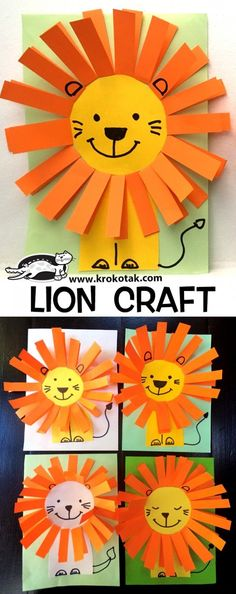 LION CRAFT children activities, more than 2000 coloring pa. LION CRAFT children activities, more than 2000 coloring pages Lion Kids Crafts, Ocean Kids Crafts, Lion Craft, Paper Plate Crafts For Kids, Frog Crafts, Animal Crafts For Kids, Rainbow Crafts, Daycare Crafts, Fall Crafts For Kids