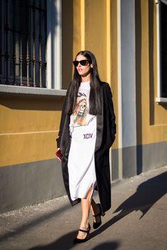Fall Fashion with an oversized tuxedo coat