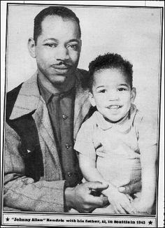 jimi Hendrix and his father 1945