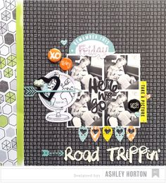 American Crafts April Gallery   Road Trippin' #scrapbook