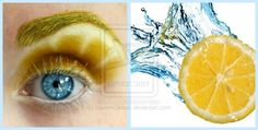 Lemon eye makeup?  Inspiration from everyday things!