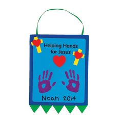 """Sunday school activity to """"give hand"""" and commit self to help others """"Helping Hands For Jesus"""" Keepsake Craft Kit - OrientalTrading.com"""