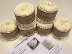 New to LittleMonkeyShop on Etsy: DIY Crochet Baby Blanket Kit - Crochet PATTERN  6 skeins of Organic Cotton Baby Yarn - Pure and Simple Design - Beginner level - Heirloom (52.50 USD)