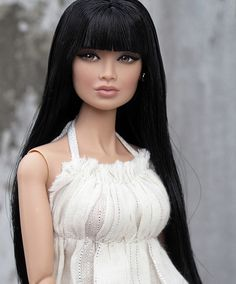 Lily | I think her face contouring is unique. - fashion art doll repaint
