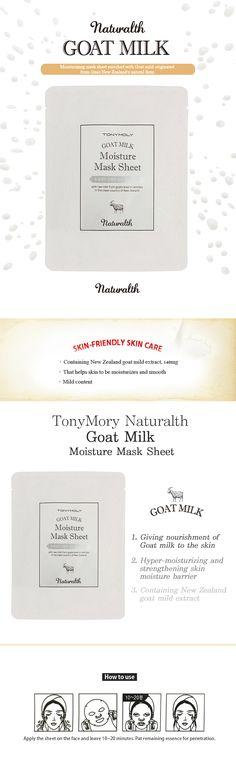TonyMoly Naturalth Goat Milk Moisture Mask Sheet