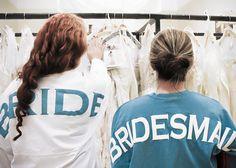Bride and Bridesmaid Spirit Football Jersey