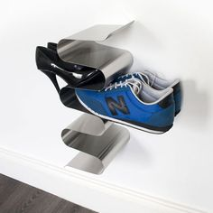 Repin this product with the tag #convenientgadgets for a chance to win over $350 worth of j-me products!  The Nest Shoe Rack is one of the most stylish and convenient ways to store your shoes! It comes in either a wall mounted or free standing version - both of which hold your shoes without compromising that precious living room or entry way space. $113.95