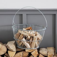 Offering skilled construction and high quality materials comes the Galvanised Basket Wire.Crafted from tough Galvanised Steel Wire the design takes inspiration from Scandinavian fishing baskets.The heavy piece has been formed in