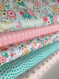 Fabric by the Yard, Baby Quilt fabric, Cloth Napkins or Patchwork Quilt Fabric, Cotton Fabric, Just Sayin fabric bundle of 5- Choose the Cut