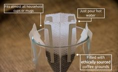 Brew Bag is a pre-filled, single-use coffee drip bag that blends the luxury and taste of a fresh brew with the ease and convenience of instant coffee.