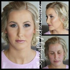 Before and after of my bride today Makeup bridal