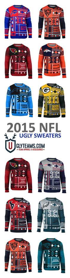 2015 NFL Ugly Sweaters from Uglyteams -- I'll take the Broncos one XD haha