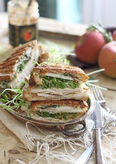 Turkey cheddar apple butter panini - Running to the Kitchen