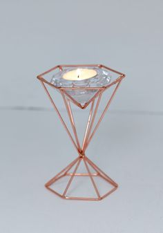 Tealight Up My Life Votive Candle Holder. Add a dash of delight to your abode with this geometric votive! #copper #modcloth