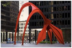 Alexander Calder's Flamingo in the Federal Plaza