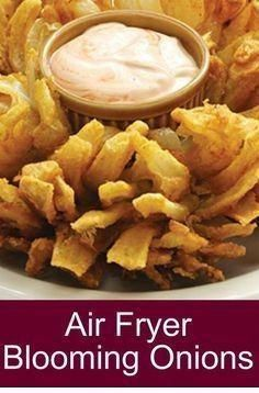 Air Fryer Blooming Onions - Home Decor And Cooking Recipes HealthyFood FoodRec. - Dessert Food Recipes - Air Fryer Blooming Onions – Home Decor And Cooking Recipes Air Fryer Recipes Potatoes, Air Fryer Oven Recipes, Air Fryer Recipes Vegetables, Oven Fryer, Fish Fryer, Air Fryer Recipes Hamburger, Air Fryer Recipes Appetizers, Air Fryer Baked Potato, Air Fryer Dinner Recipes