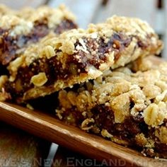 Fig Nut Bars--no need to scour the markets for fresh figs, these use dried. Wonderful with your coffee or anytime!