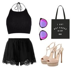 """Trendy"" by kayleedool on Polyvore featuring mode, River Island, Twin-Set, Casadei en RetroSuperFuture"