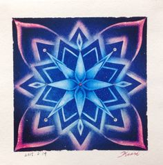 竹内香織が、パステルで描いた、曼荼羅アートです。