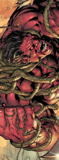 Red Hulk # 34 pencils by Carlo Pagulayan, inks by Danny Miki, colours by Boo Cook *