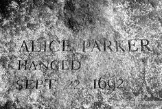 Image detail for -... Parker, victim of the Salem, Massachusetts witch trials of 1692-1693