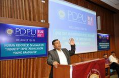 Seminar on Bridging Gaps between #Campus to #Corporate at #PDPU