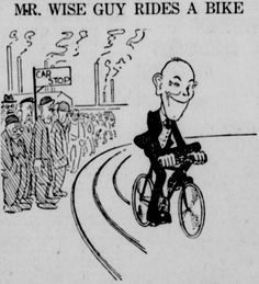 Mr. Wise Guy Rides a Bike. From the May 3, 1919 Seattle Star.
