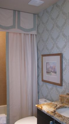 Rectangular Ceiling-Mount Shower Curtain Rod | Shower Curtains ...
