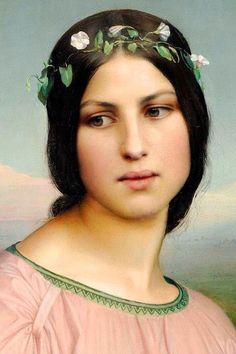 """Fleur des Champs"" (""Flowers of the Field"") (detail), by Louis Janmot (French, 1814-1892) ~ Flora Louis Janmot"