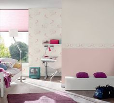 A.S. Création Wallpaper 369891 Paper Wallpaper, Wall Wallpaper, Pink Toddler Rooms, Modern Materials, White Style, Kids Bedroom, Boy Or Girl, Creations, Pastel