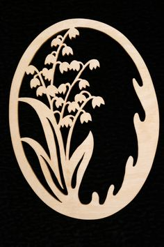 "Easter pendant ""Lilies of the valley"" - Easter pendant ""Lilies of the valley"" - Kirigami, Stencils, Mushroom Crafts, Paper Cutting Templates, Laser Art, Sewing Art, Scroll Saw Patterns, Wire Crafts, Egg Decorating"