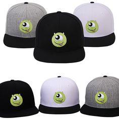 Mens Womens Authentic Disney PIXAR MONSTER Mischievous Baseball Snapback Cap Hat #hellobincom #BaseballCapHats