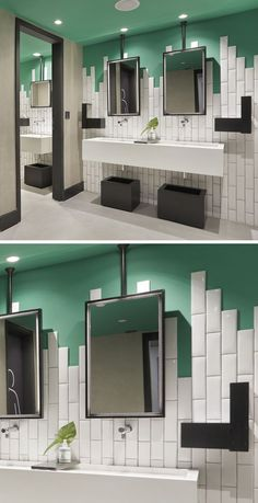 BATHROOM TILE DESIGN IDEA - Stagger Your Tiles Instead Of Ending In A Straight…