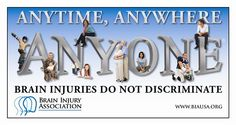March is brain injury awareness month. Find out more from the Brain Injury Association.