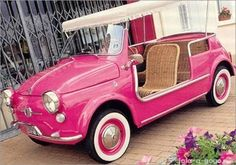 THIS pink. I'm going coastal. The Fiat Jolly