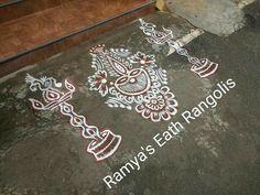 Simple Rangoli Border Designs, Indian Rangoli Designs, Rangoli Designs Latest, Free Hand Rangoli Design, Rangoli Borders, Small Rangoli Design, Rangoli Patterns, Rangoli Designs Images, Mehndi Art Designs