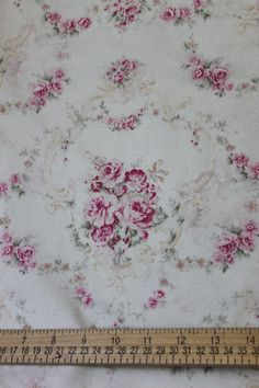 Yuwa Pink Rose Garlands Cotton Fabric  CR803945. $14.00, via Etsy.