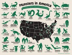 Of course the U.S. is packed with monsters. | 49 Maps That Explain The U.S. For Dumb Foreigners