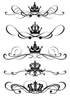 I would like to have just a crown tattoo. Spine Drawing, Back Tattoo Women Spine, Molduras Vintage, Crown Drawing, Crown Tattoo Design, Pinstriping Designs, Graffiti Lettering, Lettering Styles, Vintage Ornaments
