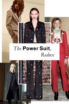 These aren't the muted politician mainstay: Pre-Fall's suiting comes in boyish checks or, if you're Gucci's Alessandro Michele, head-turning crimson.