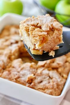 Fresh Apple Cake that comes together quickly! Simple fresh ingredients that go wow when mixed together. Your house will smell like a bakery! Easy Apple Cake, Fresh Apple Cake, Apple Cake Recipes, Apple Desserts, Easy Cake Recipes, Fall Recipes, Apple Pie, Key Lime Cake, How To Make Cake