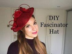 How to make a Fascinator Headpiece, DIY Disc Hat - Millinery Craft making tutorial Fascinator Headband, Fascinator Hairstyles, Hair Fascinators, Wedding Fascinators, Diy Hairstyles, Wedding Hairstyles, How To Make Fascinators, Baby Hut, Tea Party Hats