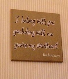 The Lumineers Ho Hey Song Lyrics on canvas by 4theloveofmusic, $50.00
