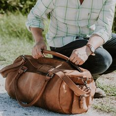 The Denver Leather Travel Duffle is crafted of durable top-grain leather, riveted with stout nickel hardware, and soundly secured by YKK zips. Canvas Duffle Bag, Waxed Canvas Bag, Leather Duffle Bag, Duffle Bag Travel, Duffel Bag, Canvas Leather, Leather Bags, Leather Briefcase, Leather Wallet