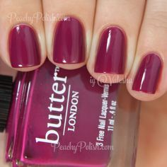 Butter London Queen Vic | Peachy Polish purple pink red