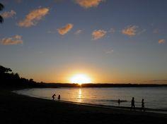 Por do sol na praia da Concha, sempre um espetáculo!
