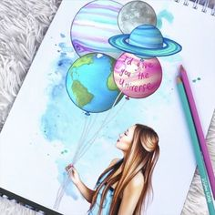 'I'd give you the universe' Valentine's Day drawing of my beautiful friend @laurdiy I'm also attempting to learn how to make my drawings move, keyword; attempting Tag someone who means the world to you ✌️